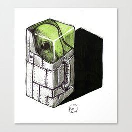 alien in a box Canvas Print