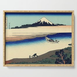 Katsushika Hokusai - 36 Views of Mount Fuji (1832) - 27: Tama River in Musashi Province Serving Tray