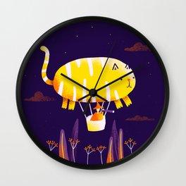 Cat Balloon Wall Clock