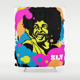 Soul Activism :: Sly Stone Shower Curtain