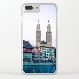 Quiet evening in Zurich Clear iPhone Case