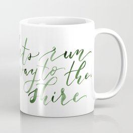 Let's run away (green) Coffee Mug