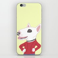 bull terrier iPhone & iPod Skins featuring Bull terrier by Tomoko K