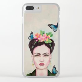 Tropical Frida by Andrea Clear iPhone Case