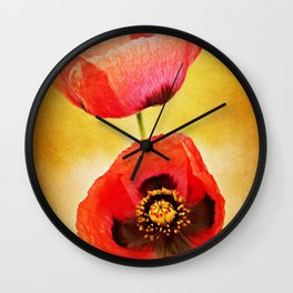 Poppy Duo Wall Clock