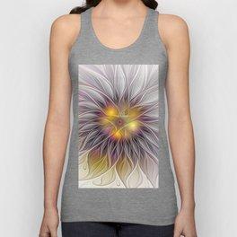 Luminous Flower, Abstract Fractal Art Unisex Tank Top