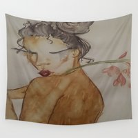 naked Wall Tapestries featuring Naked by Harlem McKinnie