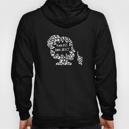 Punk Ass Book Jockey in Black and White Hoody