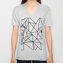 Black white modern abstract geometrical pattern Unisex V-Neck