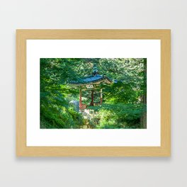 Ongnyucheon Pavilion, Changdeokgung Palace, Seoul Framed Art Print