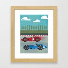 Retro Racing Framed Art Print