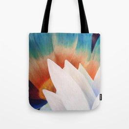 Juxtaposed Flowers Tote Bag