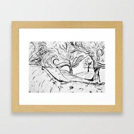 forest fire Framed Art Print