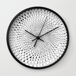 Celled Tunnel Wall Clock