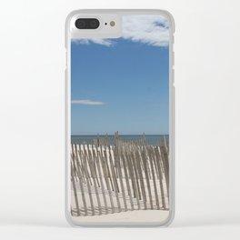 Long Island Beach Clear iPhone Case