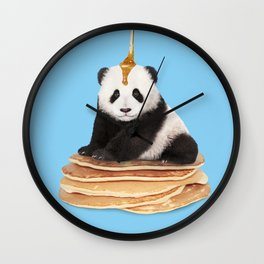PANCAKE PANDA Wall Clock
