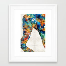 Colorful Elephant Art by Sharon Cummings Framed Art Print