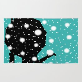 Lamp Post In the Snow Rug