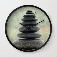 zen Wall Clocks featuring Zen... by Nature In Art...