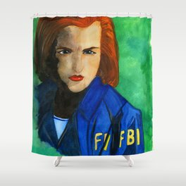 Agent Scully FBI Shower Curtain