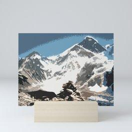 Mount Everest, Nepal, Souvenir design Mini Art Print