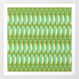 Fish Soup (olive green) Art Print