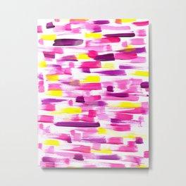 Painted Pink Metal Print