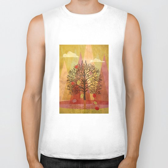 Autumn Tree Biker Tank