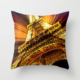 SUPERNOVA EIFFEL II Throw Pillow