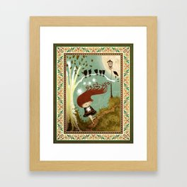 KidNappiNg a liTtle sTAR Framed Art Print