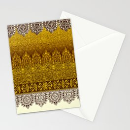 crochet lace in cream Stationery Cards