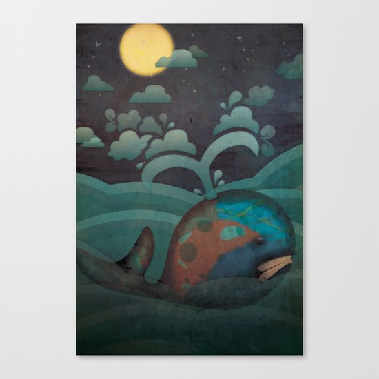 Weary Whale Canvas Print