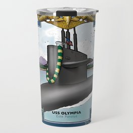 USS Olympia - Pearl Harbor Submarine Service (Gold Dolphins) Travel Mug