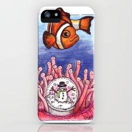 Christmas Clownfish iPhone Case