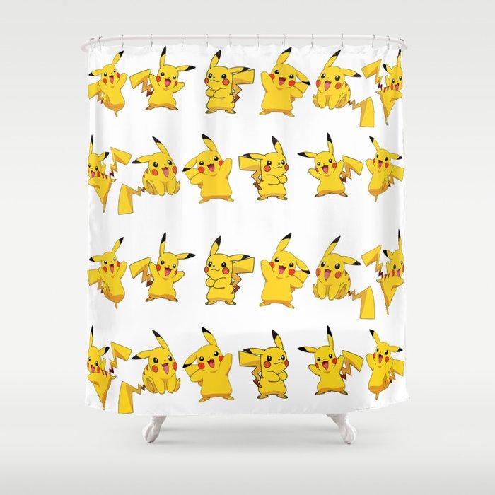 Pikachu Pokemon Shower Curtain