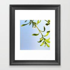 plant and sky Framed Art Print