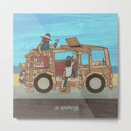 Woody Wagon Metal Print
