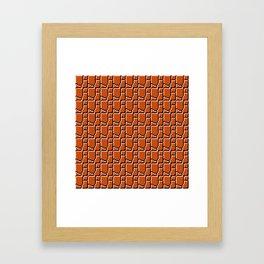 8-bit bricks Framed Art Print