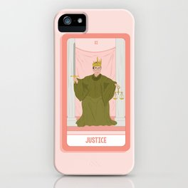 Tarot Card XI: (Supreme Court) Justice iPhone Case