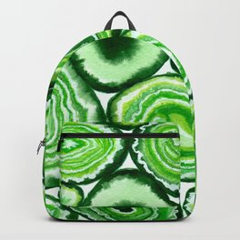 Green agate pattern watercolor Backpack