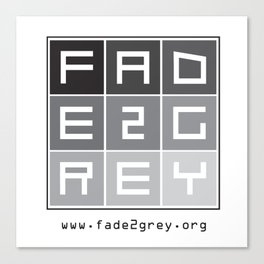 fade 2 grey Canvas Print