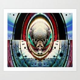 Psychedelic Pinball Art Print