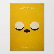 Minimalist Adventure Time Jake Canvas Print