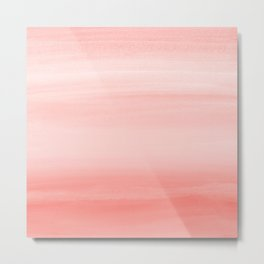 Touching Living Coral Watercolor Abstract #1 #painting #decor #art #society6 Metal Print