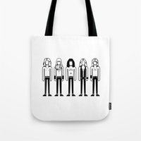 iron maiden Tote Bags featuring Iron Maiden by Band Land