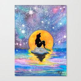 The Little Mermaid Galaxy Canvas Print