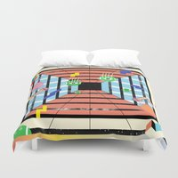 tennis Duvet Covers featuring Tennis by Kamolsky