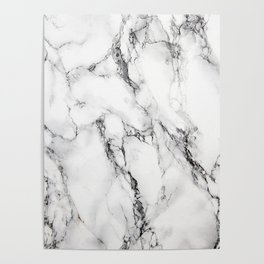 White Marble Texture Poster