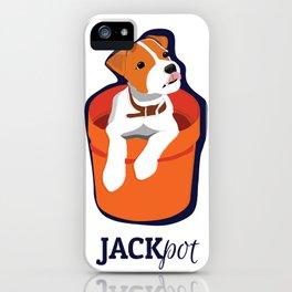 """Jackpot: Jack RussellTerrier Pop Art Puppy iPhone Case"