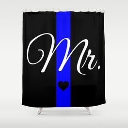 Thin Blue Line Mr. Pillow Shower Curtain